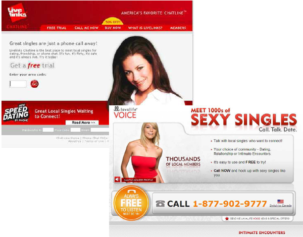 Dating sites chat lines
