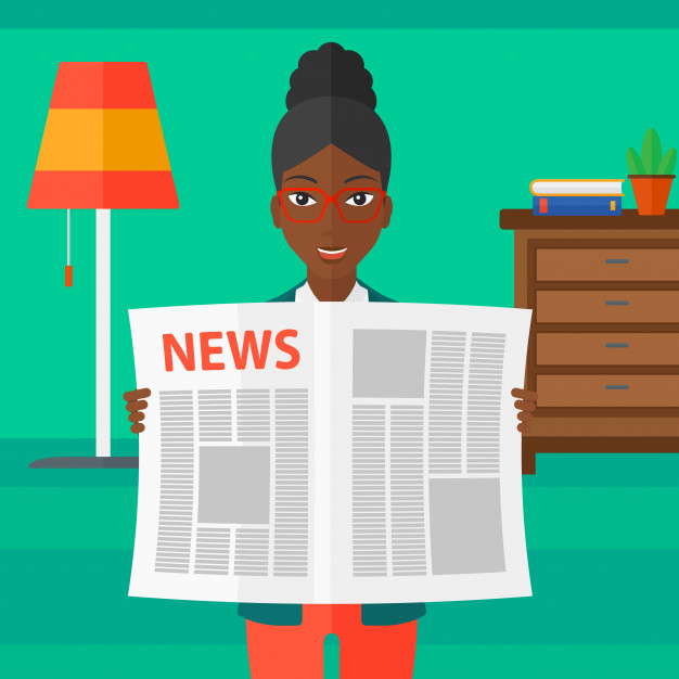 Reporter-reading-newspaper